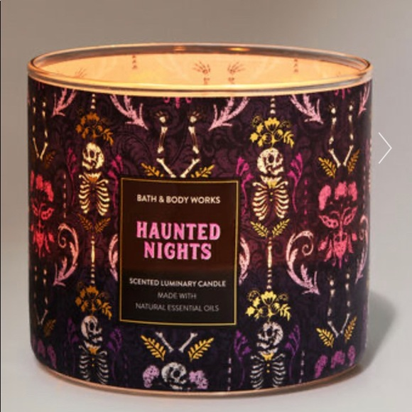 BB&W NWT Haunted Nights 3-Wick Candle